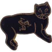 RARE Vintage Manx Cat Pin for Doll Costume Dress.