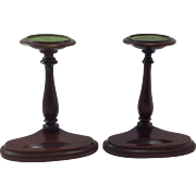 Rare Pair of Edwardian Cup and Saucer Display Stands. C.1910 Treen.