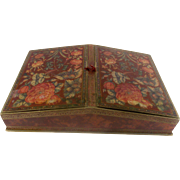 SALE Rare Stunning Old French Chocolate Box. Chinoiserie Floral Decoration. Superb Condition.