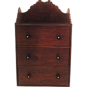 Gorgeous Little 3 Drawer Collectors, Miniature Chest of Drawers. C1900.
