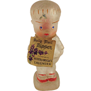 """Little Nipper""  Potter and Moore Figural Scent Bottle. With Original Tag. 1920's."