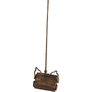 Cute Vintage Tin Plate Carpet Sweeper for Doll House.