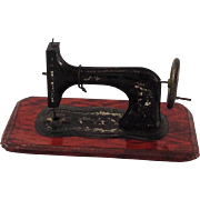 Adorable German Tin-plate Penny Toy Sewing Machine. Doll-house. 1940's
