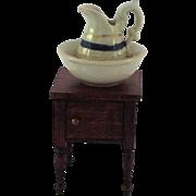 Vintage Miniature Porcelain Doll-house Water Jug & Bowl. C1900