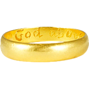 "17th Century Posy Ring ""God Above Increase Our Love"""