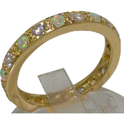 Solid 18K Yellow Gold Full Eternity Ring Handset with Natural Diamonds and Colourful Australia