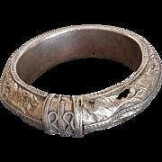 Antique Jewish Yemenite Silver Armlet Bracelet Islamic Yemen
