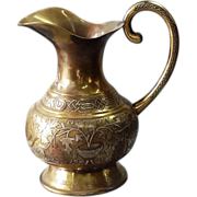 19th Century Damascus work copper silver inlay Islamic Pitcher