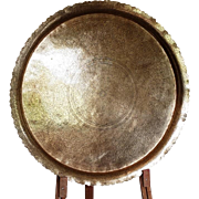 Large Islamic Tray Copper Inscribed unique concentric Calligraphy Syria Persia 80cm