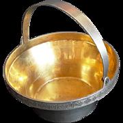 Russian Silver Bowl USSR era Vintage 182.7 Sugar Dish Russia 1960's