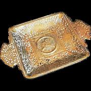 Turkish Ashtray Brass solid Ottoman Symbol Ash tray Istanbul Turkey