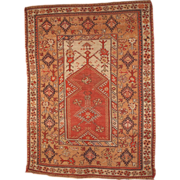 Antique Turkish Melas rug 4' x 6' ( 122cm x 183cm) 1870