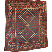 5.9' X 6.10' ( 180cm X 213cm) Hand made antique collectible Turkish Bergama rug ...