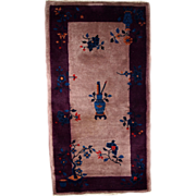2.6' x 4.9' ( 79cm x 149cm )  hand made art deco Chinese rug 1920