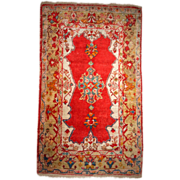 Hand made antique Turkish Anatolian Angora rug 4' x 6.7' ( 122cm x 207cm ) 1890