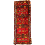 2.5' X 6.2' ( 76cm X 190cm) Hand made antique Turkish Yastik rug 1910