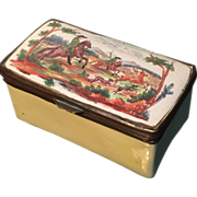 SALE Enamel Box. French or English late 1700s or early 1800s. Battersea Bilston Samson