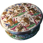 SALE 18th.century Pierre Alexander Fromery, Berlin c.1730. German silver mounted enamel box