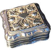 SALE Antique solid silver Dutch pill box. Fully Hallmarked for Holland 1866