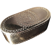 SALE Antique Solid Silver 18th C Snuff Box. Excellent.