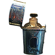 SALE Superb Antique Perfume Bottle, w Sterling Silver Box Etui. Birmingham 1816