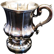 SALE Solid Silver Christening Mug Tankard London 1838. Superb.