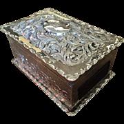 SALE Solid Silver Vesta Match Box, London / Paris 1888. Royal Crown Crest.