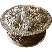 SALE Huge Continental 1700s - early 1800s Solid Silver Jewelry Powder Casket. Exciting!