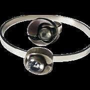 SALE Vintage Adjustable Ring and Bracelet Sterling Silver Scandinavian Modernist Designer Sten