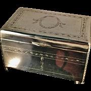SALE Large 1920s Jewelry Box Casket. Fully Hallmarked Warsaw Poland. c 15oz. Superb.