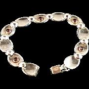 SALE 1961 Alton Swedish Vintage Modernist Solid Silver Bracelet. Beautiful.