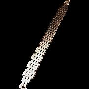 SALE Solid Silver Art Deco Old Vintage Bracelet. Swedish Import. Excellent