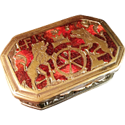 SALE French Bronze Inlaid Box from 1787. Stunning.