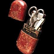 SALE Antique Manicure Etui Set Nécessaire de Manucure. Paris, France c 1890.