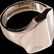 SALE Björn Weckström Lapponia Sterling Silver Ring. Finland 1984. Size 9. Excellent.
