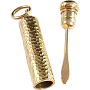 SALE 18K Gold French Toothpick and Case Pendant. Hallmarked. Mid to late 1800s. Belle Époque