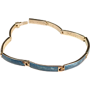 SALE Sterling Silver Blue Enamel 1913-1917 Wilhelm Ahnström, Sweden Bracelet.