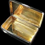 SALE Solid Silver Snuff Box. Hallmarked Lorentz Wilhelm Fougberg, Sweden 1861