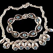 SALE 1950s Vintage Sterling Silver Necklace and Bracelet by famous Danish maker Herman ...