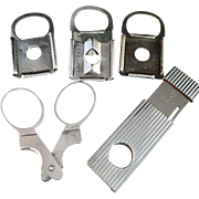 SALE 5 Hallmarked Silver Cheroot Cigar Cutters.
