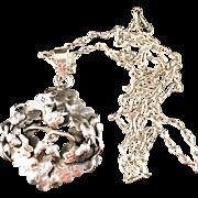 SALE Gustav Adolf Sällström, Copenhagen 1945-1955 Sterling Silver Pendant Necklace.