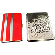 SALE Two Sterling Silver Cigarette Cases. Hugo Grun, Denmark 1919-37 and Mayle and Mayer ...