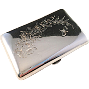 SALE Antique Moscow, Russia Solid Silver Cigarette Case.