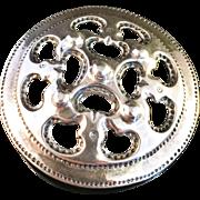 SALE Vintage 1985 Kalevala Koru Sterling Silver Brooch. Excellent.