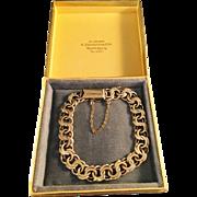 SALE Vintage 1948 Gilt Solid Silver Bracelet. Victor Janson, Sweden, in original Box. Excellen