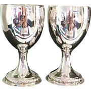 SALE IMPORTANT 1774 Dublin Tall Pair of Sterling Silver Cups Goblets. John Lloyd. Irish ...