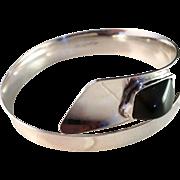 SALE Vintage 1962 maker Sammon Kultasepät modernist solid silver bracelet bangle. Excellent.