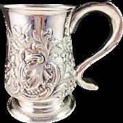 SALE Antique year 1757 John Langlands I, Newcastle Sterling Silver Beer Mug. Excellent and Ver
