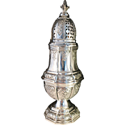 SALE Large 10oz Antique Silver Sugar Caster. Johann Sigismund Kurz, Hanau Germany mid 1800s.