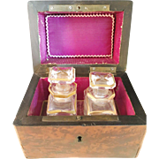SALE French late 1800s Perfume Bottles in original Case. Wow.